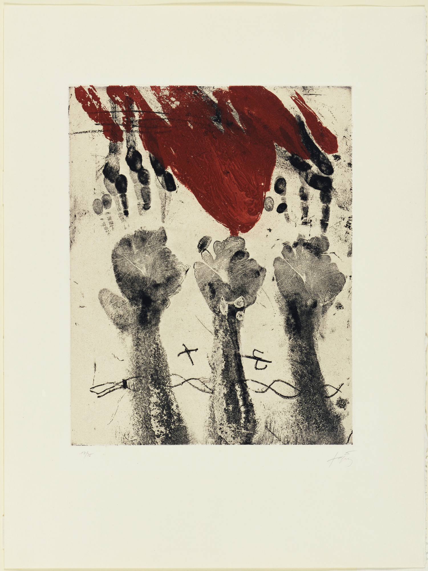 Antoi Tapies Les Mains
